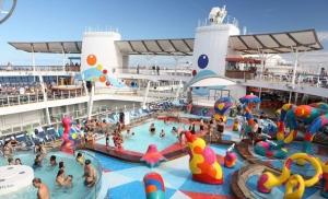 Fun Onboard Actives on a Cruise Ship